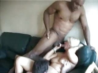 Blonde Amateur Mature Takes Two Cocks