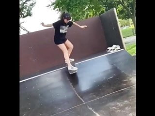 Skate Girl Showing Underpants