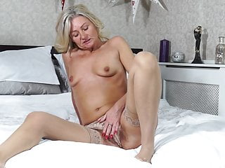 Hairy Mom Fucks Her Thirsty Old Cunt