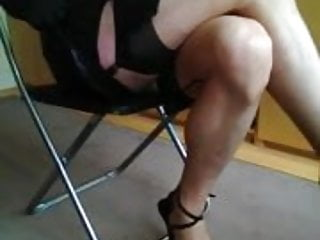 Flashing In A Sexy Dress And Ff Stockings