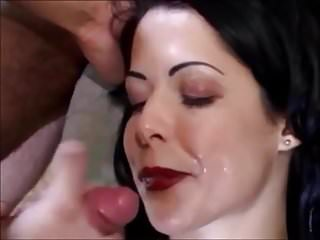 Beautiful Blackhaired Facial 51