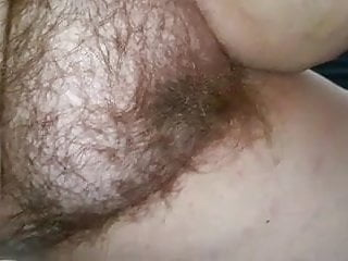 Closeup Of My Wifes Soft Belly & Hairy Pussy