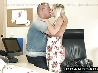 Tight Teen Office Slut Fucks Senior Boss For A Promotion