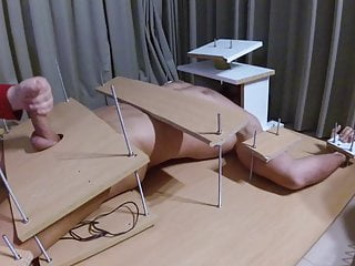 Femdom Handjob Ruined Orgasm With Feet Torture