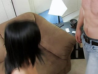 Cute Brunette Girl Takes Lovers Cock