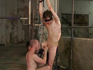 Blindfolded Twink Fucked Hard By Dominant Male Master