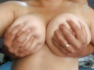 Bit Natural Milf Tits Worshipped By Hubbys Big Hands